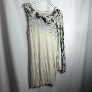 Twelfth Street By Cynthia Vincent One Shoulder Batwing top size Large 0740